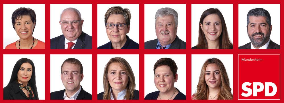 Die Ortsbeiratskandidaten der SPD Mundenheim